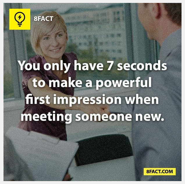 7 seconds to make a first impression