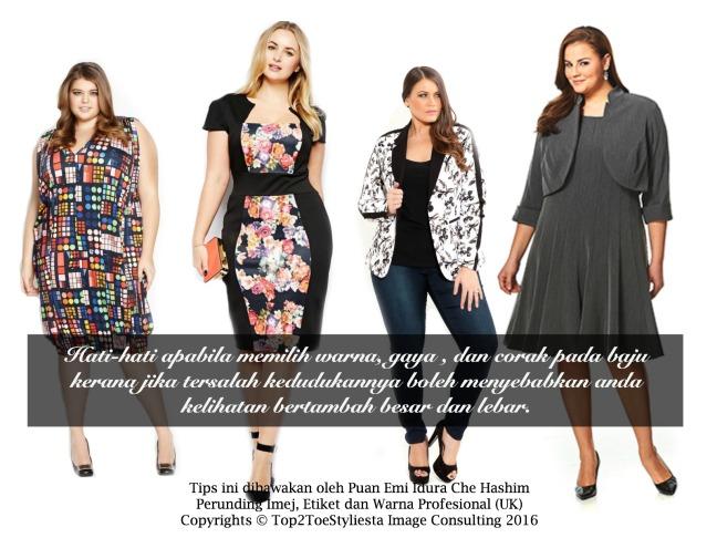 pilih warna ,gaya corak pada baju